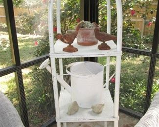 Watering can and wicker stand is sold!
