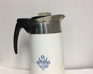 https://www.ebay.com/itm/124123427960 KB0004: Vintage Corning Ware 10 Cup Blue Cornflower Electric Coffee Pot Complete w/ Cord