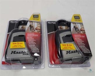 2 MasterLock Portable Lock Boxes