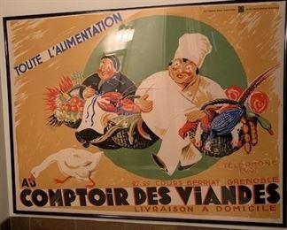 U COMPTOIR DES VIANDES LARGE POSTER $450