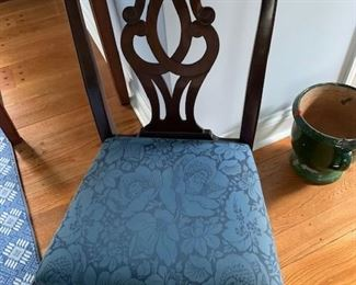 SCROLL BACK AND UPHOLSTERED SEAT DINING CHAIR (1) $75