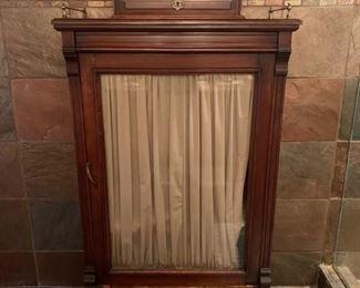 Gorgeous Victorian Glass Door Cabinet $425