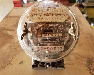 1920s Edison and Westing House Electric Meter 1920s Edison and Westing House Electric Meter