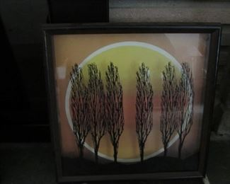 Six Trees by Virgirl Thrasher-Reverse Painting