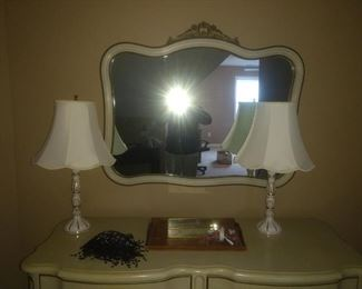 Large French provincial mirror! $45