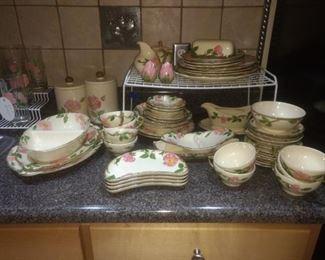 Set of Fransiscan dishes $145