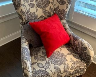 "$200 each- There are two (2) identical armchairs available for purchase. This listing is for one (1) armchair.                                                                                              23"" deep 26"" wide 40 ½ "" tall"