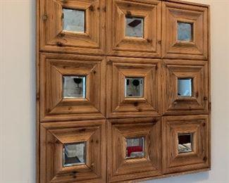 "Square Mirror- $50- 29 ½"" square"