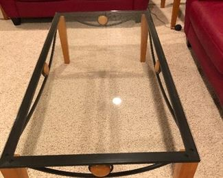 Glass top coffee table 45. And two end tables 35.00 each