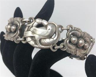 Georg Jensen Sterling Dove Bracelet 14 https://ctbids.com/#!/description/share/368111