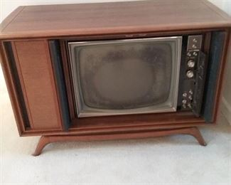 002 MidCentury Television Cabinet and Speakers