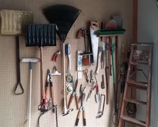 Assortment of Hand Tools for the House and Garden