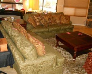 Silk Sofa and Love seat