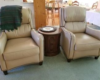 All leather recliners