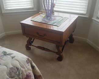 Quality wood end table