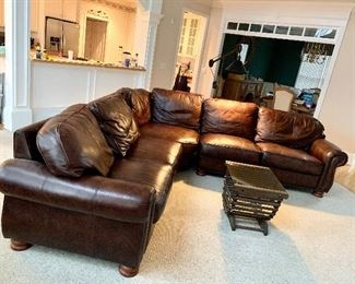 Beautiful leather sectional sofa. Priced at $775.00 beautiful sectional in great condition.