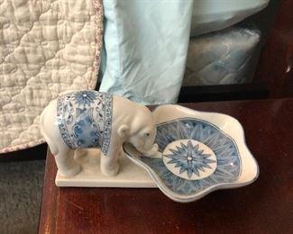 Ceramic elephant trinket dish: $5