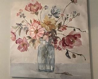 """Floral print on canvas: $15 (39.5"""")"""