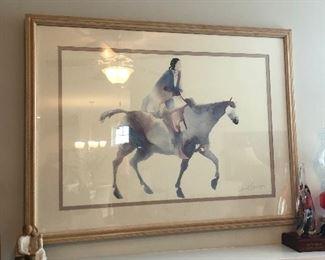"Horse framed print: $20 (41"" wide x 31"" tall)"