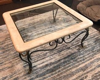 """Glass top coffee table: $20 (35"""" squsare)"""