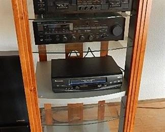 YAMAHA VCR RX-700 TUNER. YAMAHA DUAL CASSETTE RECORDER. PANASONIC 4 HEAD VCR. ALL PRICED SEPARATLY.