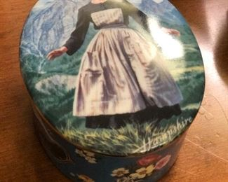 Sound of Music painted porcelain music box.