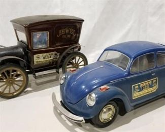 VW Bug and Jewel Beam Decanters