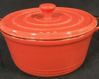 Set of Two PYREX Painted Retro Baking Pots