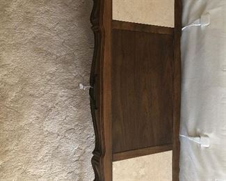 Coffee table. Stone and wood. 53x20 14.5H $38
