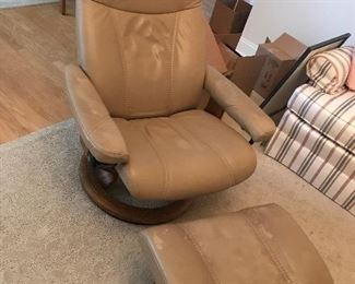 Stressless Chair / Ottoman (wear on ottoman and arm rests) - $ 295.00