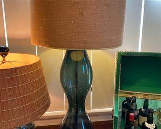 Tall Blenko glass lamp: $350