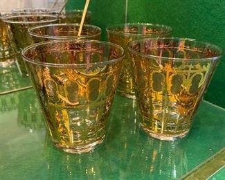 Set of four vintage cocktail glasses: $45