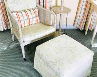 Hickory Chair $300, Ottoman $100