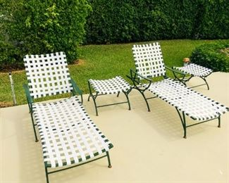 Outdoor Loungers Set of 2 with side tables $325