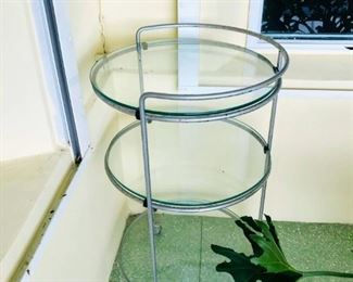 REDUCED $25                                                                                          3 Tier rolling table - $60 (some rust)