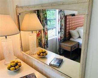 Dresser with matching mirror $400