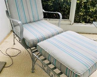 Wrought Iron Collection - 2 Lounge Chairs with Ottomans, Glass Top Table with 4 chairs, 1 coffee table, 2 sitting chairs and small side table, Bundle Price for All $800