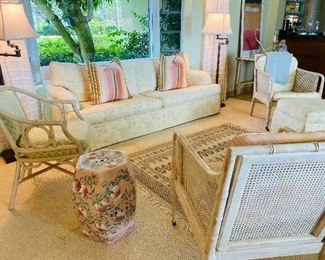 Upholstered sofa $550