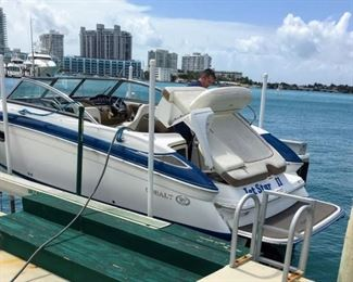 """REDUCED!!! $29950                                                         Cobalt 243 FGE boat - Listed at $39950 •13 Passenger Capacity •Body 23'11"""" with Swim Platform •In/Out Propulsion •Woodgrain Dash/Trim Pkg •Battery Switch w/VSR-Dual •Premium sound/CD w/Transom Remote •GPS (Garmin 640 w/Weather, Touch w/Maps •Windlass w/Line, Chain & Anchor •Enhanced Salt Water Pkg •Motorbox Actuator •Bimini top / Mooring Cover"""