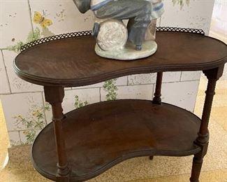 Kidney shape side table $35