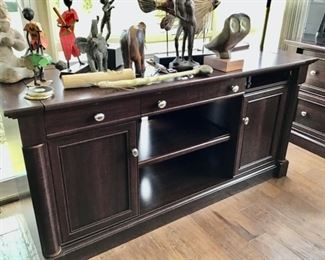 Cherry Credenza that matches the desk.