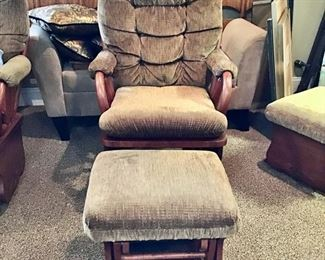 We have 2 of the these 'Best' Furniture Co. Glider Chairs and Ottomans