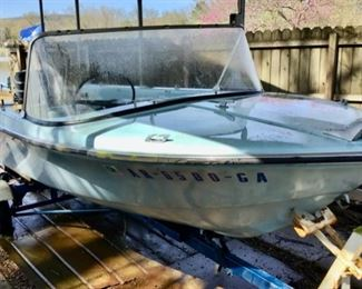 Vintage 1960 Crownliner 15' Boat with Mercury Engine.  AS IS Engine does not run.  SOLD