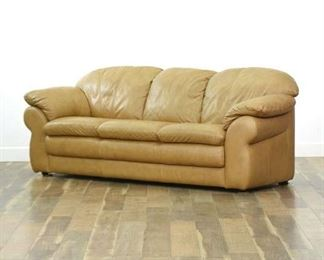 Chateau D'Ax Divani Italian Leather Sofa
