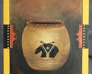 Zapotec Art a 2013 Original  Oil on Canvas by Betty Bennett (16 x 20)