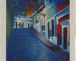 """By Dale's Place"" Old San Juan Puerto Rico Signed and Numbered Print by Strasbourg France Artist Nico Thomassin (B.1972)"