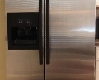 "Whirlpool Stainless Steel Side-By-Side Refrigerator Freezer (36""W x 30""D x 69""H)"