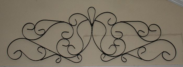 "Vintage  Architectural  Wrought Metal Scroll Work (68"" x 15"")"