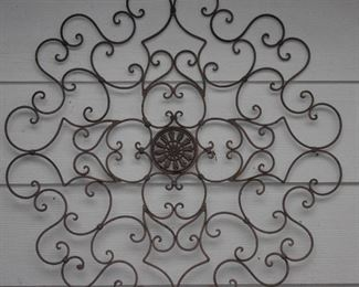 "Wrought Metal Wall Medallion (36""W)"