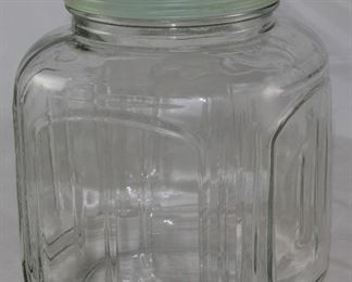 Hoosier Glass Vintage gallon Jar with Green Lid